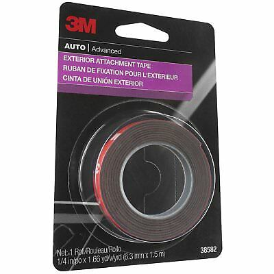 "3M 38582 1/4"" x 5' Exterior Attachment Tape"