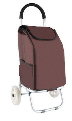 E174 Rugged Aluminium Luggage Trolley Hand Truck Folding Foldable Shopping Cart