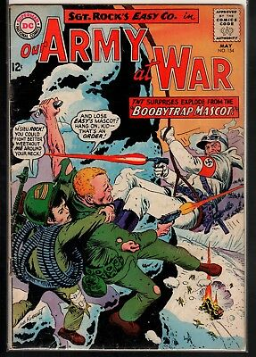 Our Army at War #154 GD+ 2.5 DC Classic Silver Age War 1965 Sgt. Rock's Easy Co.