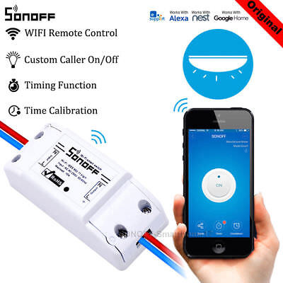 Sonoff WiFi Wireless Switch APP Remote Control Relay Module For Apple Android