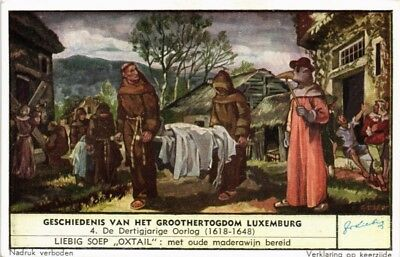 Advertising Liebig Card The Grand Duchy Of Luxembourg The Thirty Year War