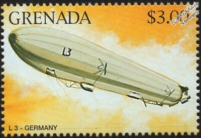 WWI Luftschiff Zeppelin LZ.24 (Imperial German Navy L3) Airship Aircraft Stamp