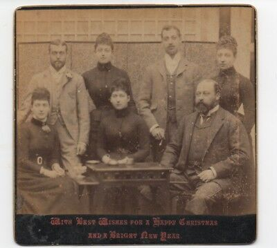 Rare 1890s Photographic Christmas Card from the English Royal Family