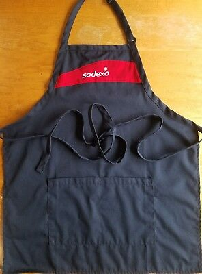 Sodexo Navy Blue Adjustable full APRON With Pockets.