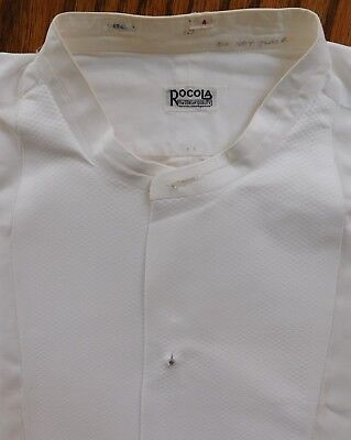 Vintage mens starched Marcella tunic shirt Rocola size 15 1920s 1930s collarless
