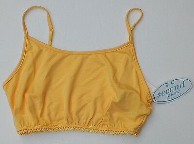 SECOND BASE THE ORIGINAL DEMI CAMI YELLOW sz S NEW USA AUTHENTIC