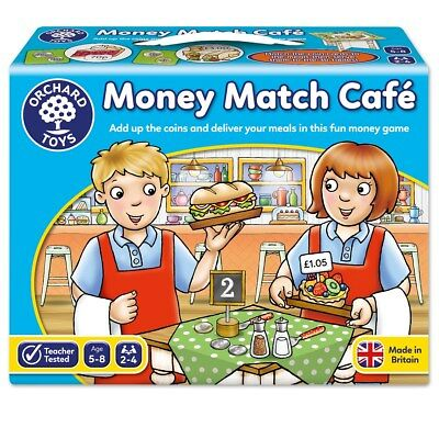 Money Match Café Orchard Toys Number & Counting Game 5 - 8 Years