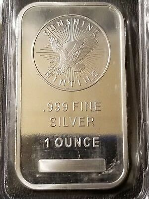 Sunshine Minting 1 Oz. .999 Fine Silver Bar - Sealed