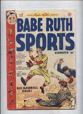 Babe Ruth Sports comic #2 Golden Age Baseball special