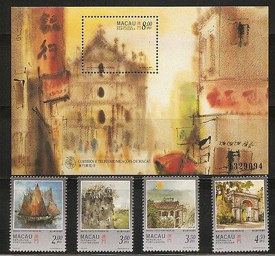 Macao SC # 860-864 Paintings Of Macao By Kwok Se. Complete Set .MNH
