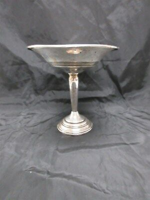 """Vintage Sterling Silver Compote Dish -Weighted-  200.2 Grams 6"""" Tall"""