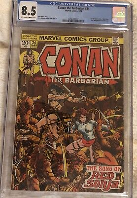 Conan the Barbarian #24 1st FULL Appearance of Red Sonja CGC 8.5 Upcoming Movie