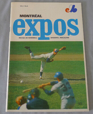 Official 1970 MLB Chicago Cubs vs Montreal Expos Game Baseball Program