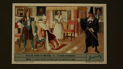 Advertising Liebig Card Moliere The Imaginary Invalid