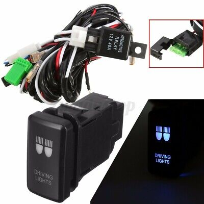 LED Driving Reverse Spot Fog Light Bar Wiring Loom Harness 40A Switch for TOYOTA