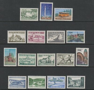 Finland - 1963/75, Pictorial set (Excludes 40p & 60p) - MNH - SG 660/77