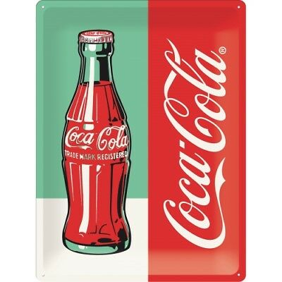 Blechschild 63324 - Coca-Cola Bottle Pop Art - 30X40 cm - Neu