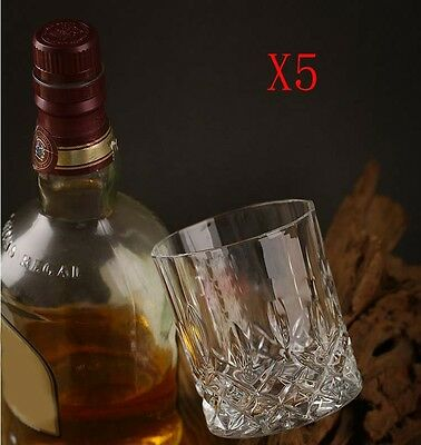 New 5X Capacity 210ML Height 85MM Transparent Whisky Wine Glass/Glassware %