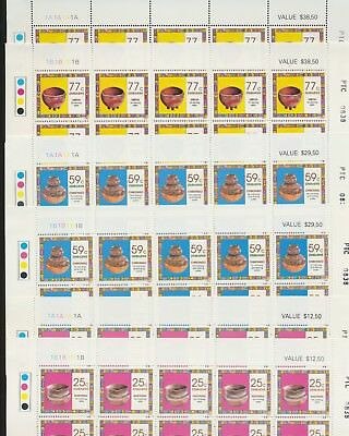 Zimbabwe 1993 HouseHold Pottery CYL A+B Numbered FULL SHEETS x50 UMM S466 SCARCE