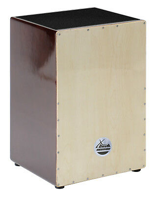 Xdrum Cajon Trommelkiste Percussion Trommel Nature Brown Wood Latin Instrument