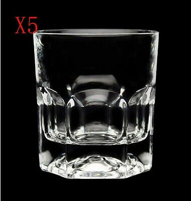 New 5X Capacity 280ML Height 95MM Transparent Whisky Wine Glass/Glassware %
