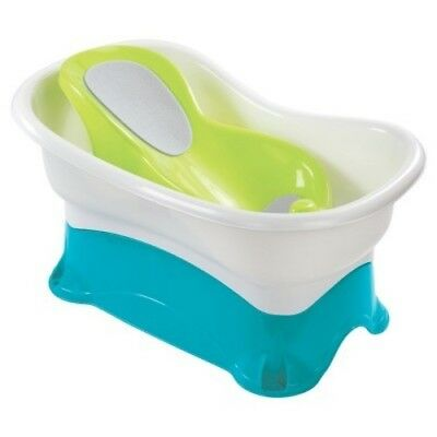 NEW Summer Infant  Comfort Height Bath Tub  -  Multi-Stage Tub and Step-Stool