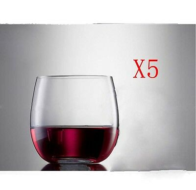 New 5X Capacity 260ML Height 74MM Transparent Whisky Wine Glass/Glassware %