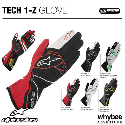 3550016 Alpinestars TECH-1 Z RACE GLOVES FIA - New Design with High Grip Level