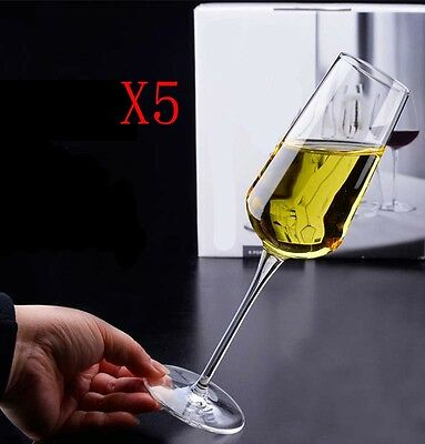 New 5X Capacity 280ML Height 243MM High Foot Champagne Wine Glass/Glassware %