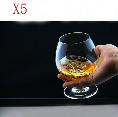 New 5X Capacity 255ML  Height  110MM  Transparent  Red Wine Glass/Glassware %