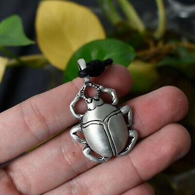 Scarab Beetle Silver Pewter Charm Necklace Pendant Jewelry