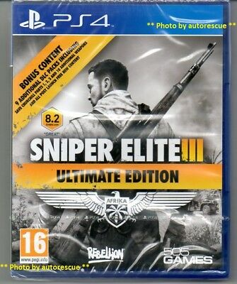 Sniper Elite III (3) Ultimate Edition  'New & Sealed'   *PS4(Four)*