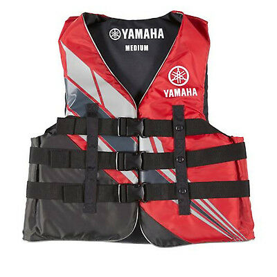 Yamaha Marine New OEM Unisex PFD Nylon 3 Buckle Life Jacket, 2XL, Red
