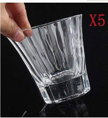 New 5X Capacity 285ML Height 85MM Transparent Whisky Wine Glass/Glassware %
