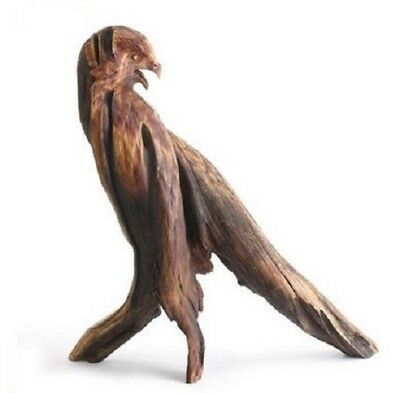Ken White Redtail Hawk Bird Faux Wood Sculpture Figurine by Big Sky Carvers