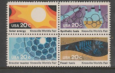 USA 20c Knoxville World Fair Fuels Block of 4 MUH #