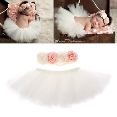 Photography Newborn Props Infant Costume Outfit Princess Baby Tutu Skirt Dress