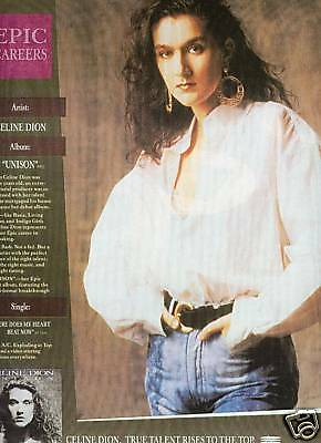 CELINE DION preserved 1991 PROMO AD True Talent Rises..