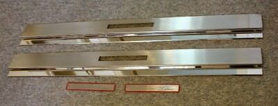 Chrom SILL COVERS EDELSTAHL Mercedes A124 C124 COUPE CONVERTIBLE