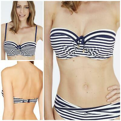 34866d2564ae5 Lepel Beach Life Balconette Bikini Top Lepel Striped Strapless Bikini Top  BNWT