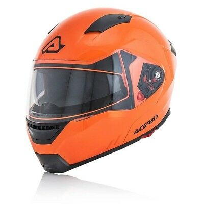 Casco Acerbis Box G-348 Modulare Apribile Doppia Visiera Interno Lavabile Orange