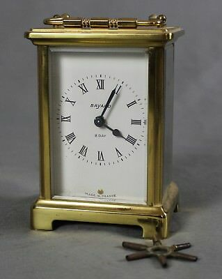 Bayard French 8 Day Carriage Clock