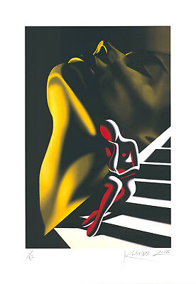 Mark Kostabi - The Edge of Ecstacy - Originalpigmentgrafik - handsigniert - 2018