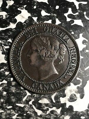 1858 Canada Large Cent Lot#X5116 Nice! Key Date!