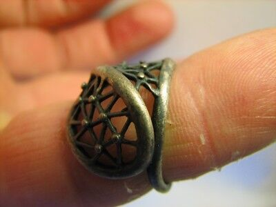 Author's Work! Vintage Sterling Silver Ring #6492