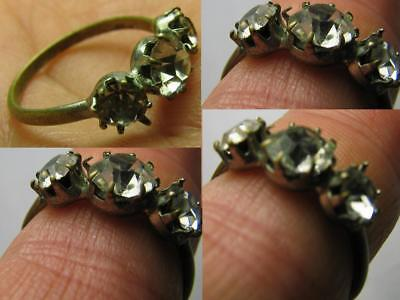 NICE VINTAGE RING with STONES 100% WEARABLE! #491