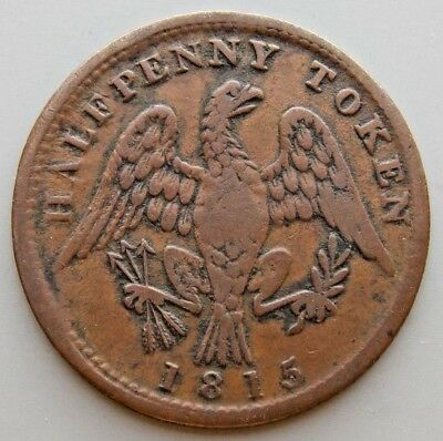 """1815 LC-54D1 Lower Canada Canadian Spread Eagle Token """"Counter Clockwise"""""""