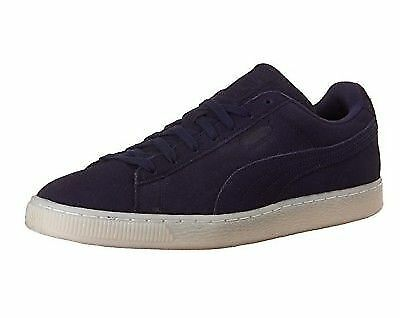New Puma 360850 01 Suede Classic Navy Blue Men s Casual Shoes Size 8.5 US f10dd7160