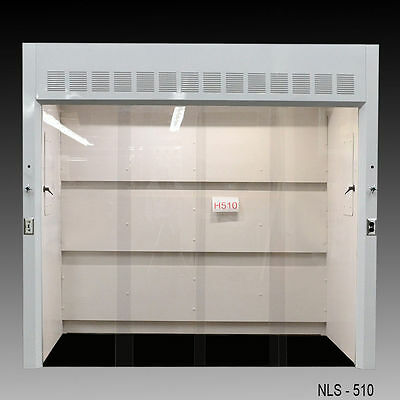 8' Laboratory WALK-IN Fume hood with Gas & Water Valves NLS-H510 New-