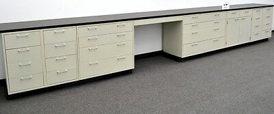 Laboratory Base 19' Cabinets with Chemical Resistant Counter Tops  -